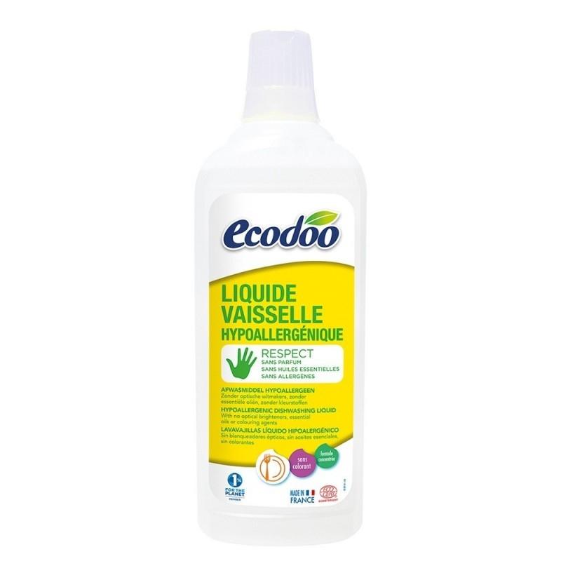 Detergent hipoalergenic vase, fara parfum, 750ml - Ecodoo