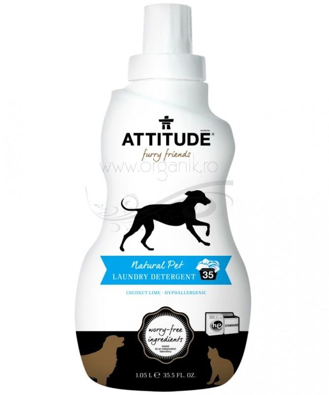 Detergent ecologic de rufe pentru animale, cocos si lime, 1050 ml - ATTITUDE