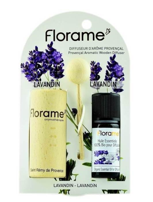 Difuzor Provencal & Ulei esential BIO de lavandin (10ml) - Florame