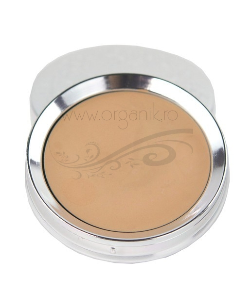 Fond de ten compact Cream Foundation, Peach Bisque - 100 Percent Pure Cosmetics