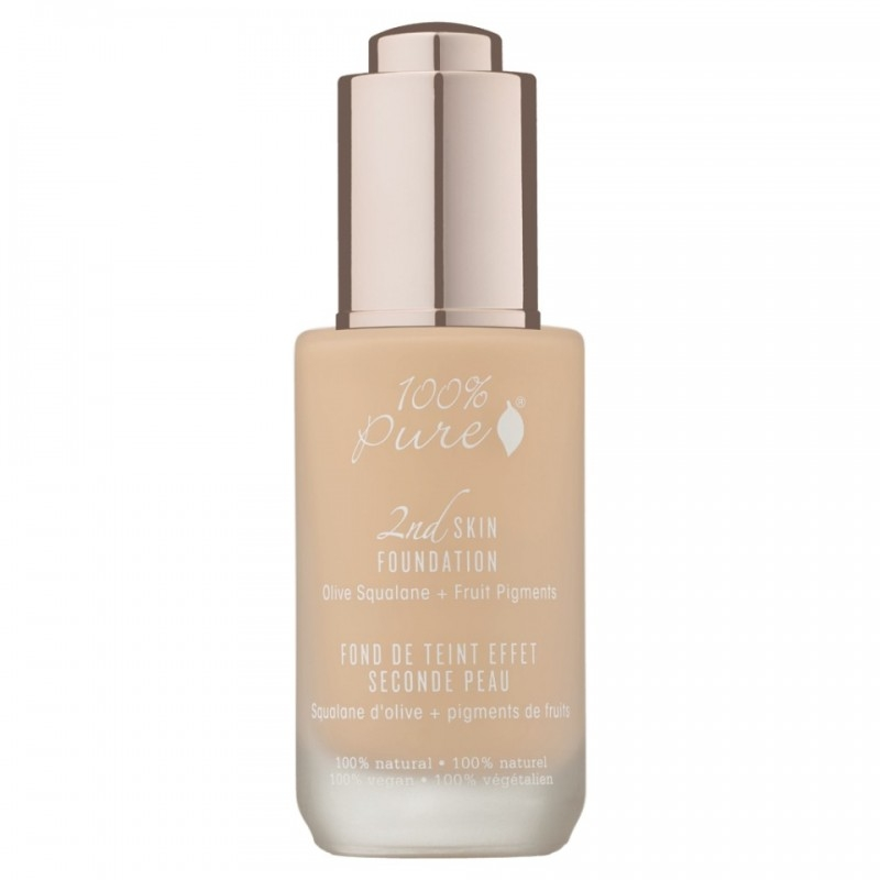 Fond de ten serum cu efect 2nd Skin, no.2 (White Peach) - 100 Percent Pure Cosmetics