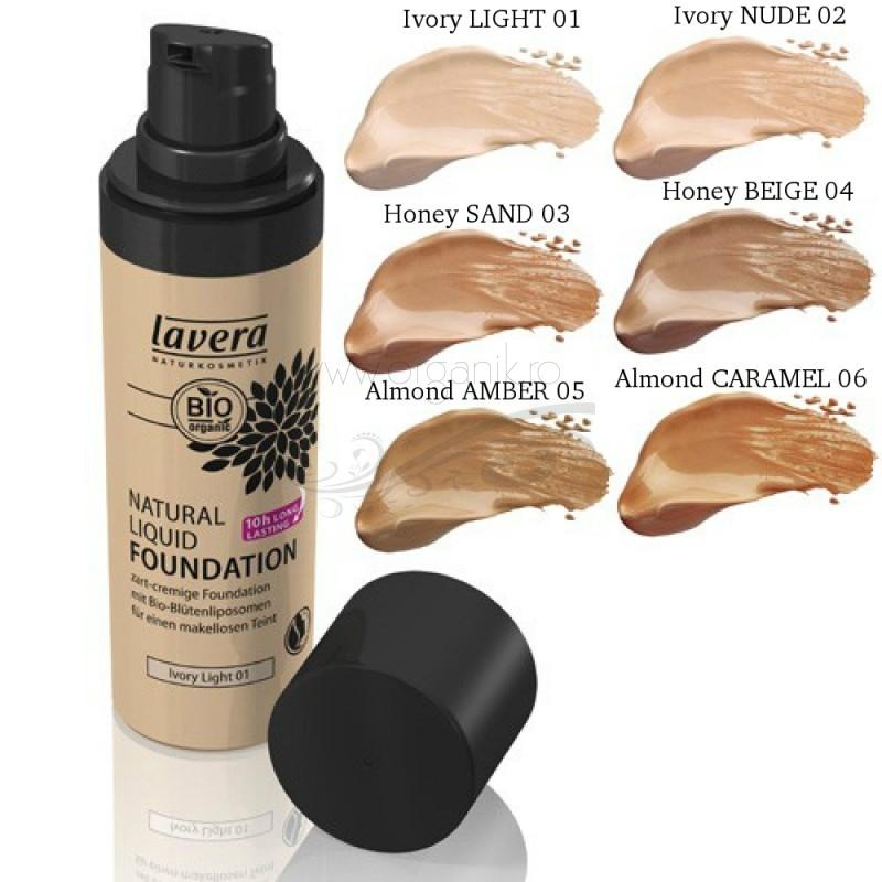 Fond de ten BIO lichid Almond Amber 05 - LAVERA