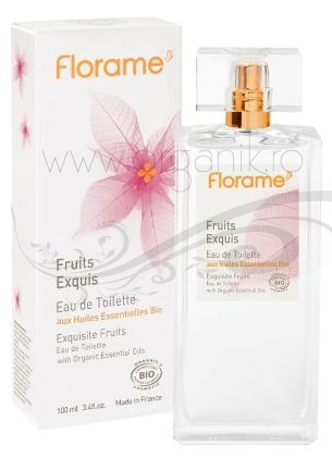 Apa de toaleta bio Exquisite Fruits, 100 ml - Florame