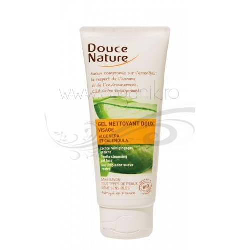 Gel de curatare fara sapun pentru toate tipurile de ten, 100 ml - Douce Nature