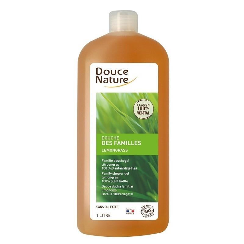 Gel de dus cu lemongrass, format familial 1L - Douce Nature