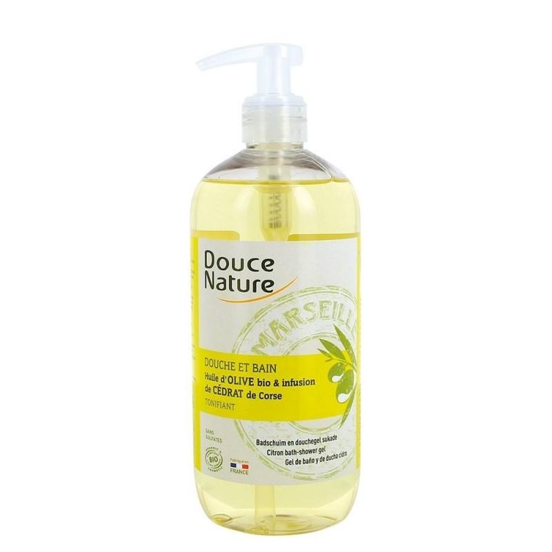 Gel de dus cu sapun de Marsilia si infuzie de citrice, 500 ml - Douce Nature