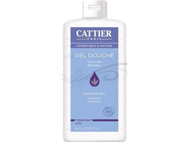 Gel de dus bio tonifiant cu lavanda si rozmarin, format familial 1L - CATTIER