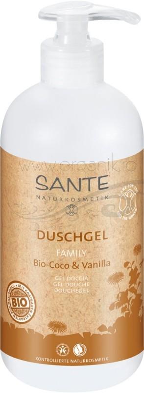 Gel de dus bio Coco Vanilla, family size 950 ml - SANTE NATURKOSMETIK