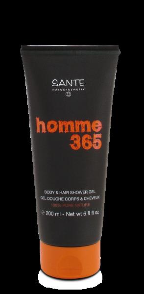 Sampon si gel de dus pentru barbati Homme 365 - SANTE NATURKOSMETIK