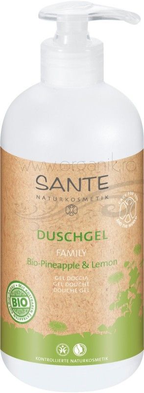 Gel de dus family size Lamaie si Ananas, 950 ml - SANTE NATURKOSMETIK