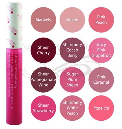 Luciu de buze Juicy Pink Grapefruit - 100 Percent Pure Cosmetics