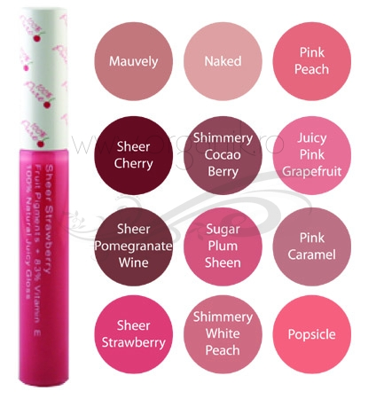 Luciu de buze Sheer Cherry  - 100 Percent Pure Cosmetics