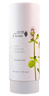 Crema hidratanta cu menta si ceai alb, ten normal spre gras - 100 Percent Pure Cosmetics