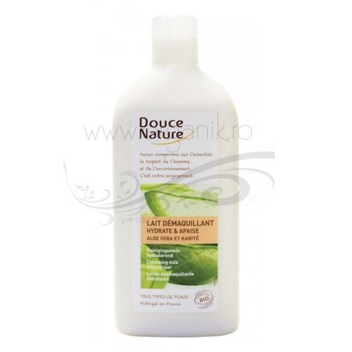 Lapte demachiant hidratant toate tipurile de ten, 300 ml - Douce Nature