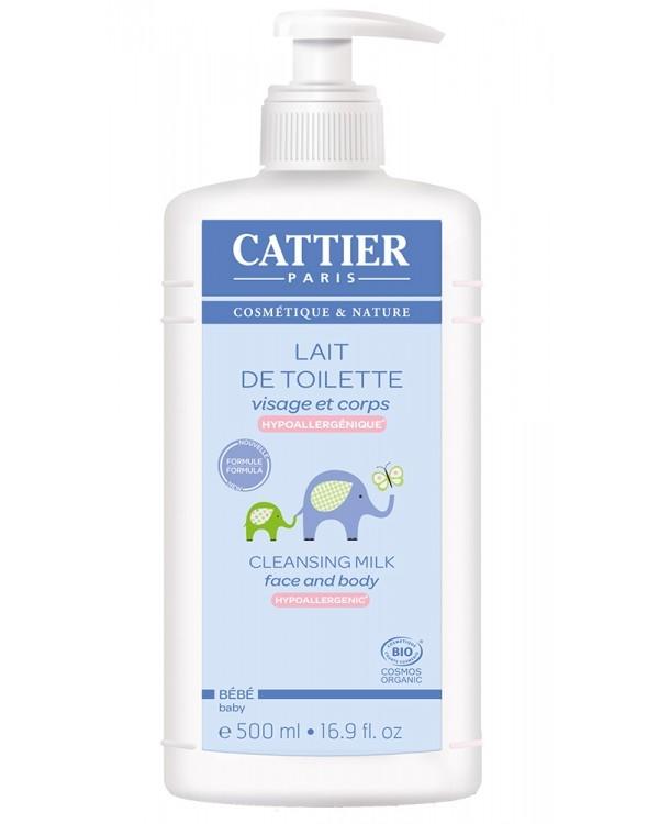 Lapte de curatare hipoalergenic fata si corp pentru bebelusi, 500 ml - CATTIER