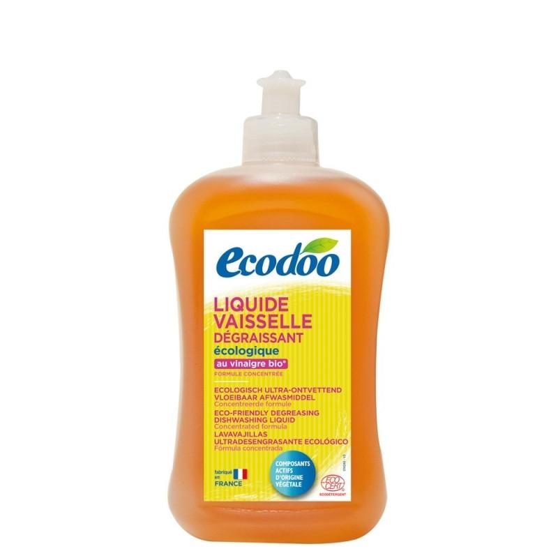 Detergent de vase ecologic ultradegresant cu menta, 500 ml - Ecodoo