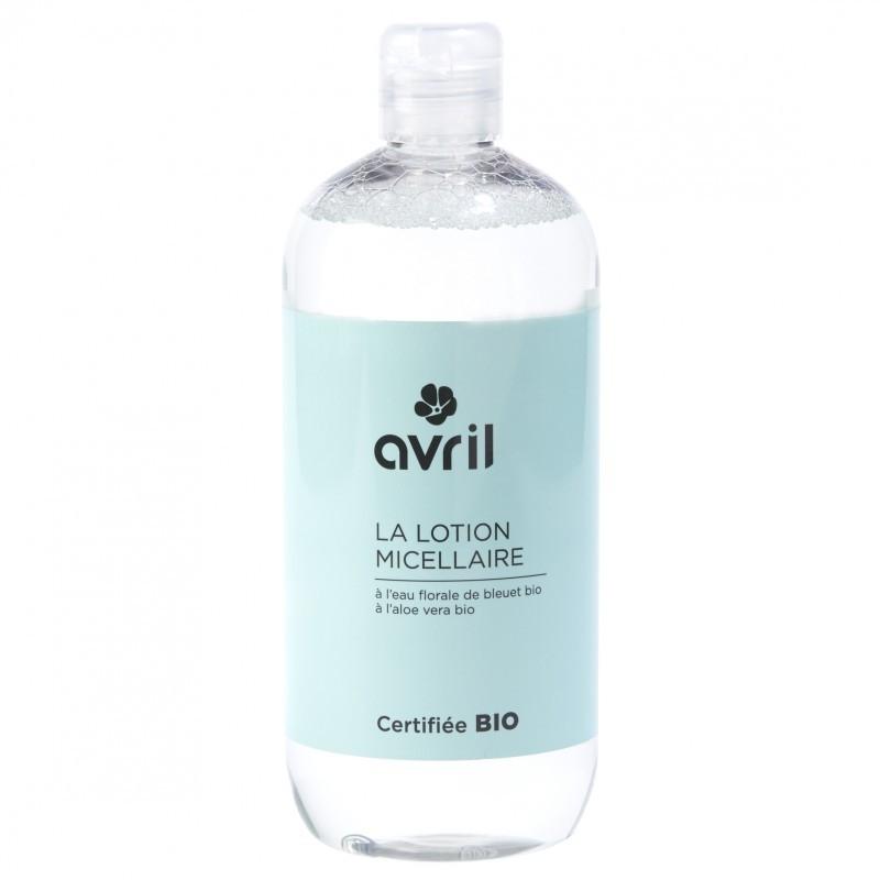 Lotiune micelara bio cu apa de albastrele, 500 ml - Avril