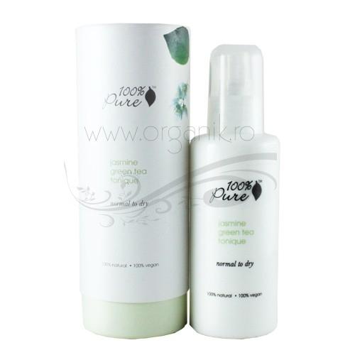 Lotiune tonica cu iasomie si ceai verde pentru ten normal sau uscat - 100 Percent Pure Cosmetics