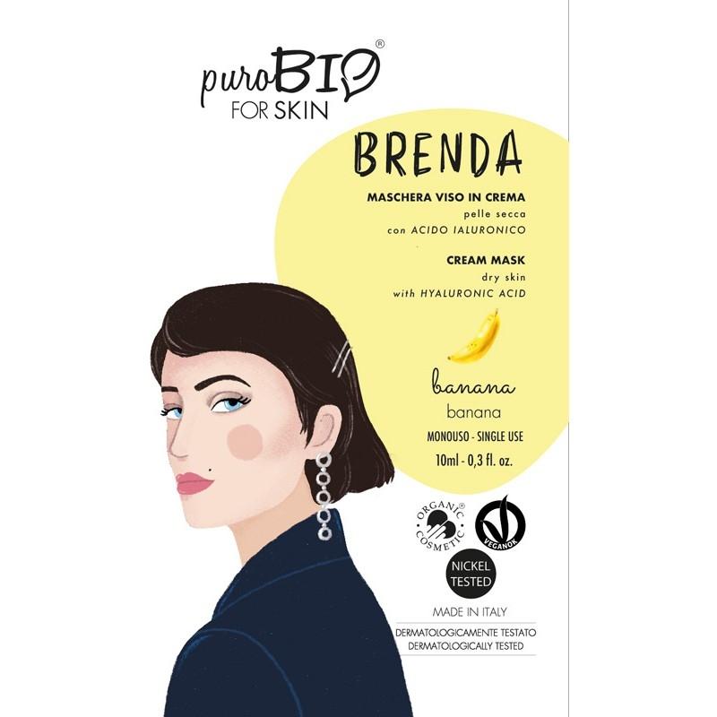 Masca crema ten uscat BRENDA banane, 10ml - PuroBio