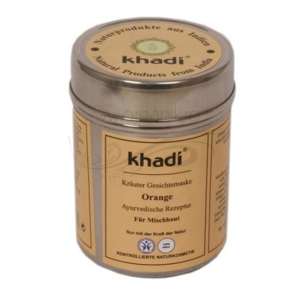 Masca naturala pentru ten si corp cu portocale - Khadi