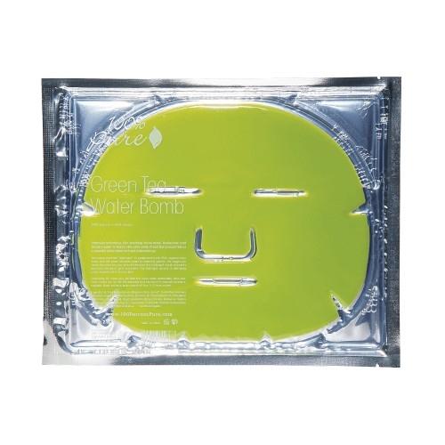Masca faciala hidrogel cu acid hialuronic si ceai verde - 100 Percent Pure Cosmetics