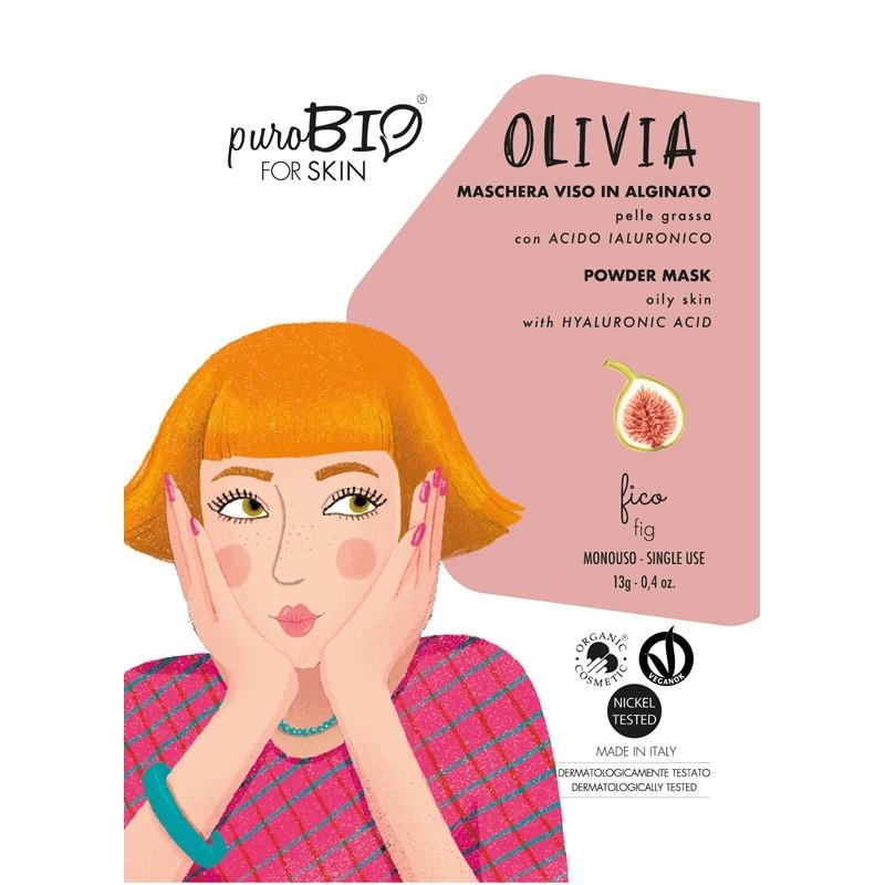 Masca peel-off ten gras OLIVIA smochine, 13g - PuroBio