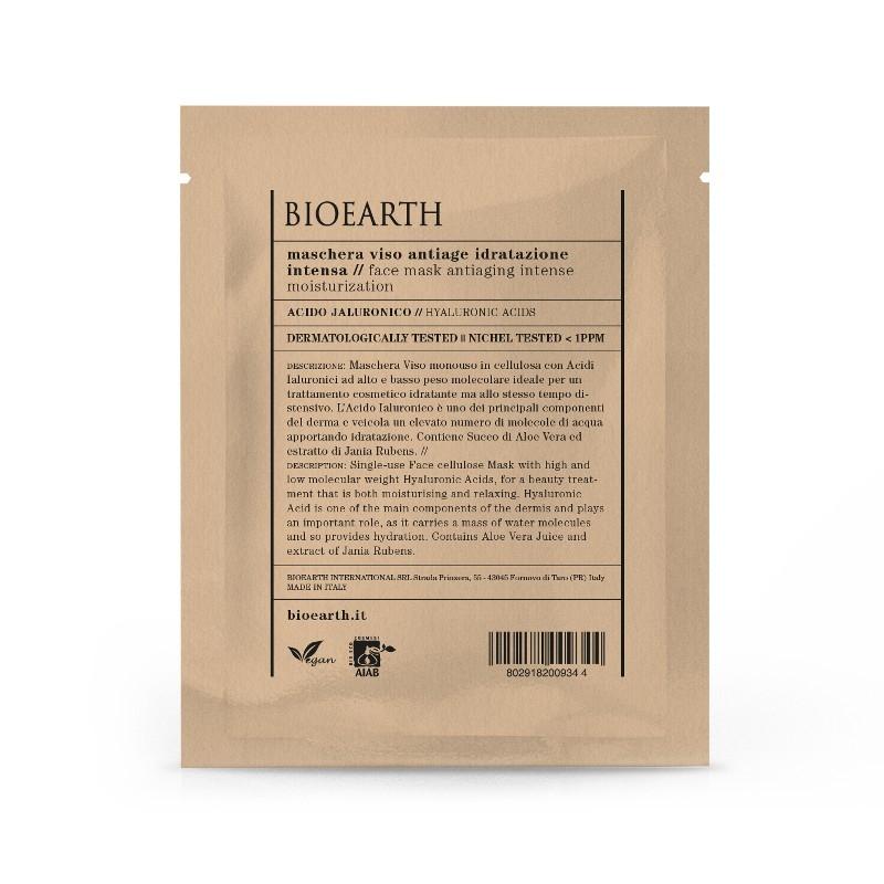 Masca din celuloza cu acid hialuronic, efect antirid & hidratare intensa - Bioearth