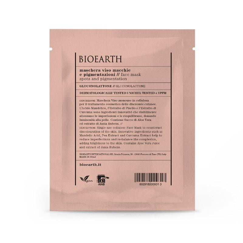 Masca din celuloza cu gluconolactona, anti pete pigmentare - Bioearth
