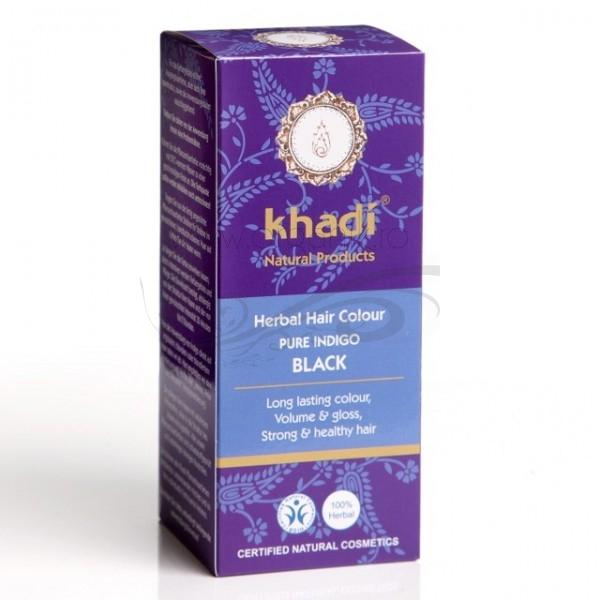 Vopsea de par naturala Indigo - Khadi