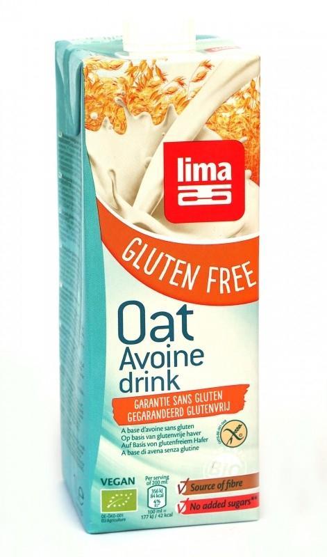 Lapte de ovaz bio, fara gluten, 1L - Lima