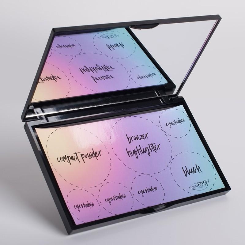 Paleta magnetica pentru 7 produse machiaj, cu oglinda - Purobio