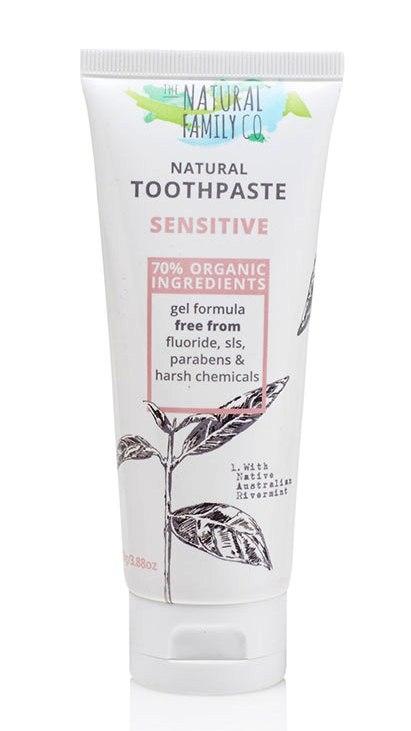 Pasta de dinti naturala pentru adulti si copii Sensitive Nfco, 110g - Jack n' Jill