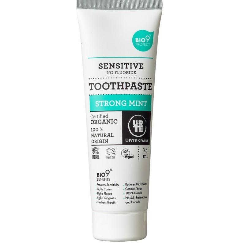 Pasta de dinti bio Strong Mint cu extract salcie, pentru dinti sensibili, 75ml - URTEKRAM
