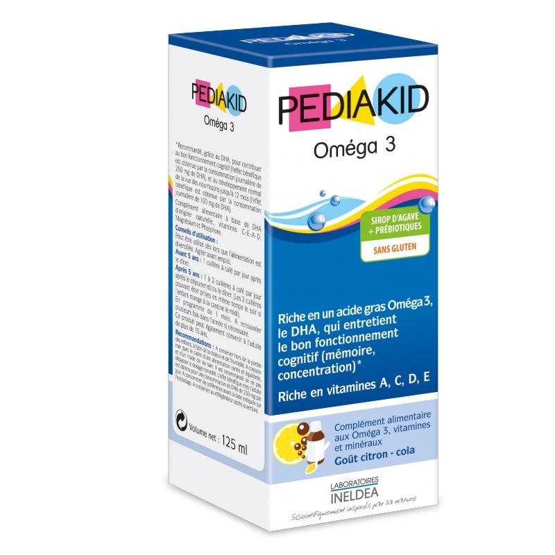 Pediakid Omega 3 si Vitamina A,C,D,E pentru copii, sirop 125 ml - PEDIAKID
