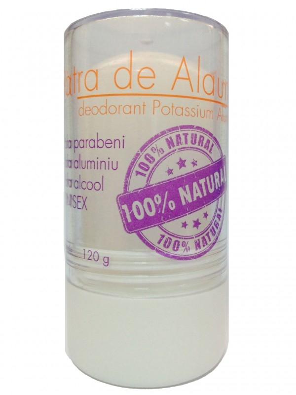 Piatra de Alaun deodorant mineral stick 120g, ambalaj usor deteriorat