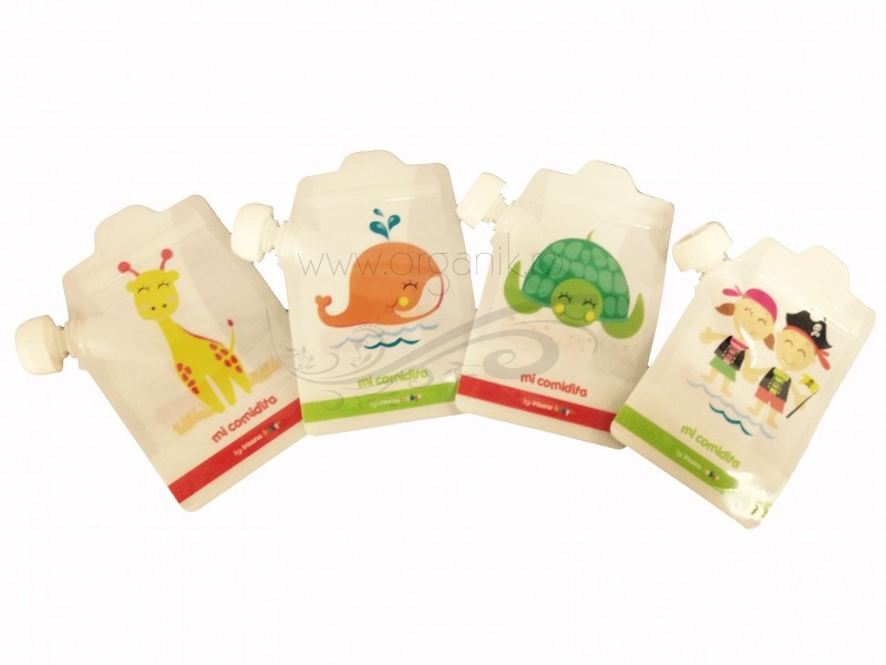 Pungute reutilizabile pentru hranirea bebelusului (4 buc) - Irisana Baby