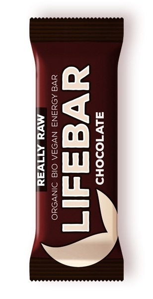 Baton cu ciocolata raw bio , 47g - Lifebar