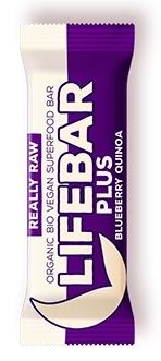 Baton Plus cu afine si quinoa raw bio, 47g - Lifebar