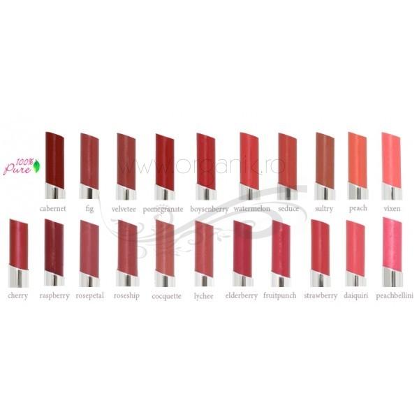 Ruj de buze cu pigmenti din fructe, Raspberry - 100 Percent Pure Cosmetics