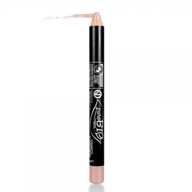 Ruj & fard de pleoape creion Old Rose 15 - PuroBio
