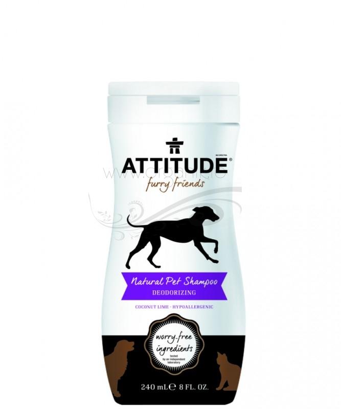Sampon natural pentru animale de companie, Dezodorizant - ATTITUDE