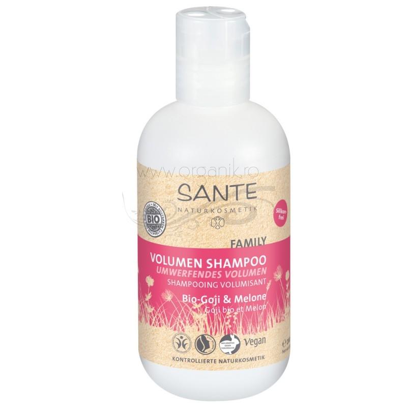 Sampon organic pentru volum pepene & goji, 200 ml - SANTE NATURKOSMETIK