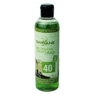 Gel de dus cu sapun de Alep 40% ulei de dafin, 250ml - Saryane