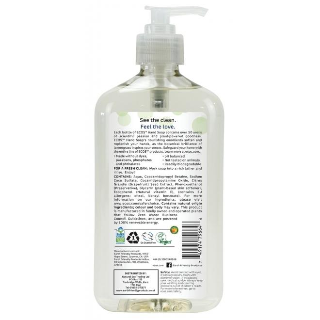 Sapun lichid hidratant Lemongrass, 500ml - ECOS