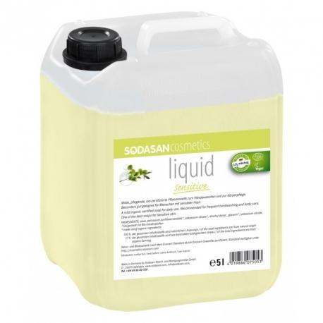 Sapun lichid-gel de dus Sensitive fara parfum, 5L - Sodasan