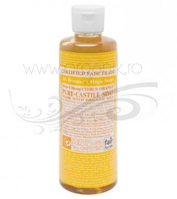 Sapun magic 18-in-1 Citrice, 236 ml - DR. BRONNER