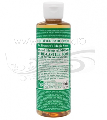 Sapun magic 18-in-1 Migdale, 236 ml - DR. BRONNER