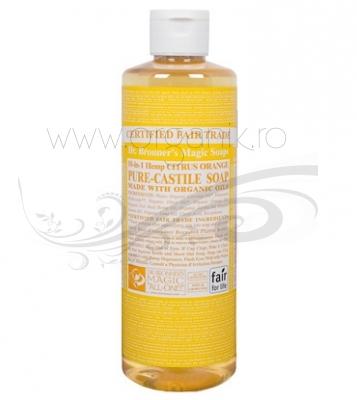 Sapun magic 18-in-1 Citrice, 473 ml - DR. BRONNER