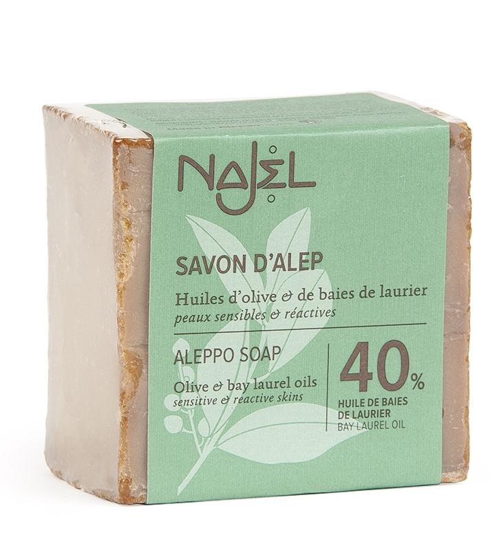 Sapun traditional de Alep cu 40% ulei de dafin, 200g - NAJEL