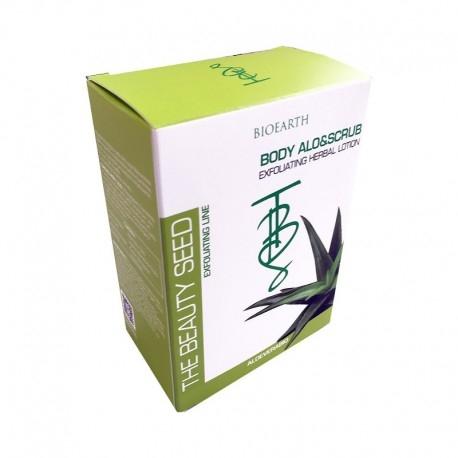 Exfoliant pentru corp cu aloe vera si unt de shea (pachet 5 plicuri) - Bioearth